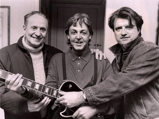 Les Paul, Paul McCartney and Joesph Dera, who was McCartney's