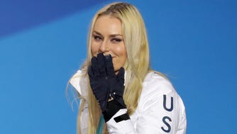 Lindsey Vonn said goodbye to Olympic downhill Thursday with a strong run in the first half of the Alpine combined.