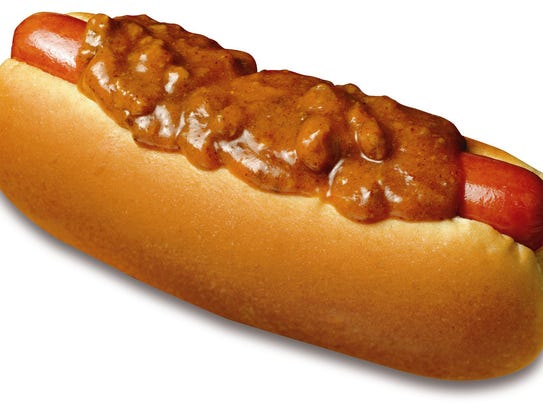Chili dog from Wienerschnitzel.