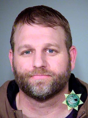 This Jan. 27, 2016, photo provided by the Multnomah County Sheriff's Office shows Ammon Bundy, one of the members of an armed group that occupied central Oregon's Malheur National Wildlife Refuge as part of a dispute over public lands in the Western U.S.