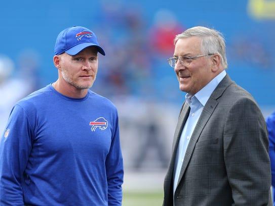 Bills team owner Terry Pegula and his wife, Kim, met