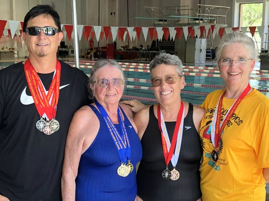 Pictured, from left, are your Senior Olympic Games national qualifiers, Ben Young, Yenny van Dinter, Pamela Gulbrandson and Teresa Ortiz.