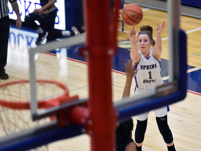 Spring Grove's Ellie Glass shoots against Red Lion