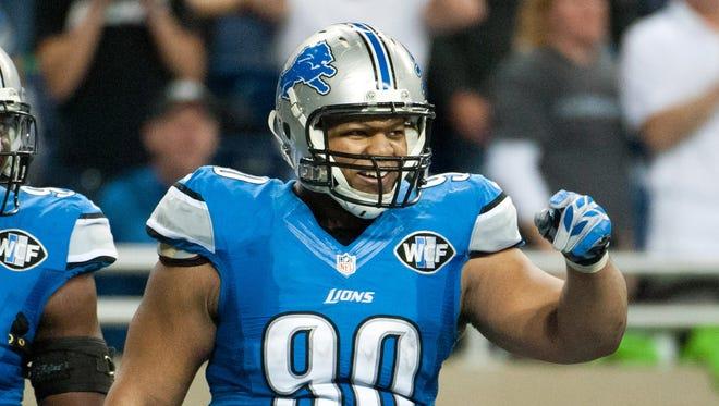Dec 7, 2014; Detroit Lions defensive tackle Ndamukong Suh (90).