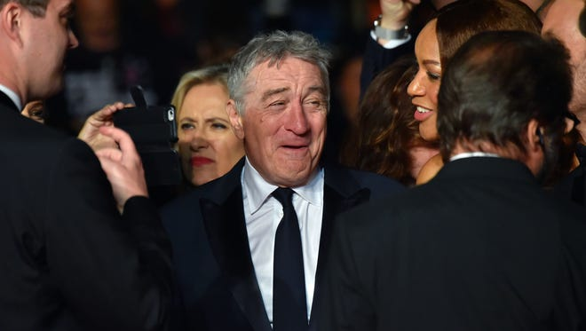"Robert de Niro arrives or the screening of the film ""Hands of Stone"" at the 69th Cannes Film Festival on Monday."
