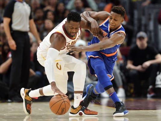 USP NBA: NEW YORK KNICKS AT CLEVELAND CAVALIERS S BKN CLE NYK USA OH