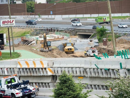 Crews have been moving earth, constructing bridges and building new ramps. Work on the main line of Interstate 83 is expected to start in a few weeks.