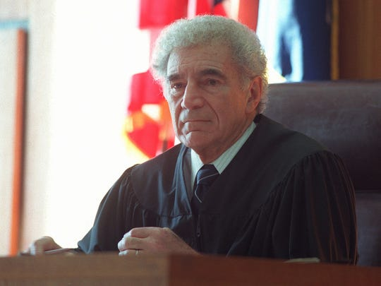 State Supreme Court Justice Donald J. Mark at the argument of motions Tuesday, Jan. 28, 1997.