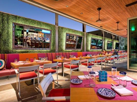 Restaurant seating at SumoMaya in Scottsdale.