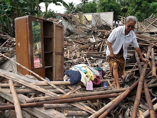 May 26, 2006: 5,700 dead in Indonesia. A 75-year-old