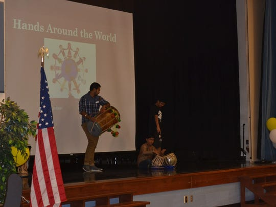 Endeavor Elementary's 'Hands Around the World' event.