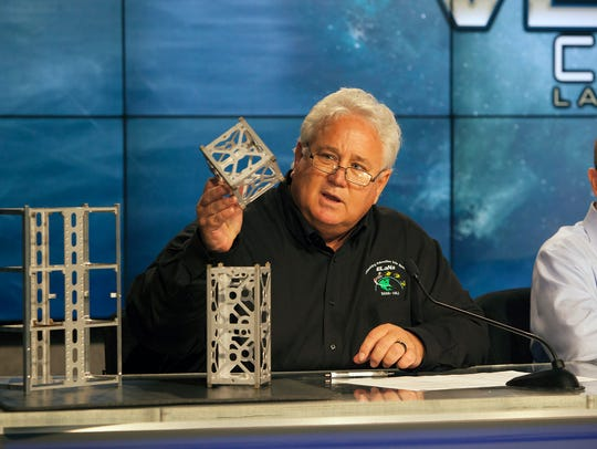 During a Wednesday news conference at Kennedy Space