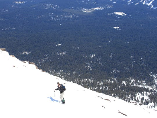 Zach Urness climbs up Mount McLoughlin in Southern Oregon.