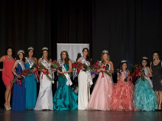 Miss Otero County Vanessa Hernandez stands with other
