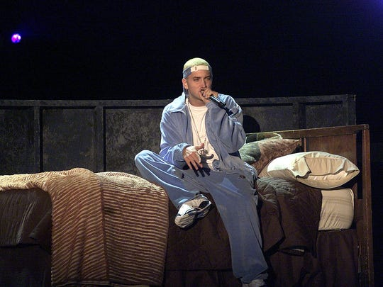 Eminem performing at the 2001 Grammy Awards.