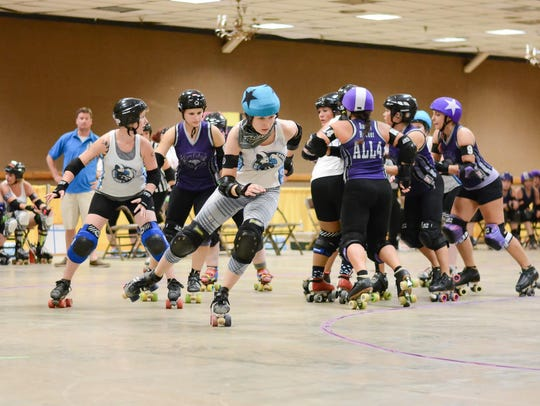 The Cornfed Derby Dames skate against Gem City.