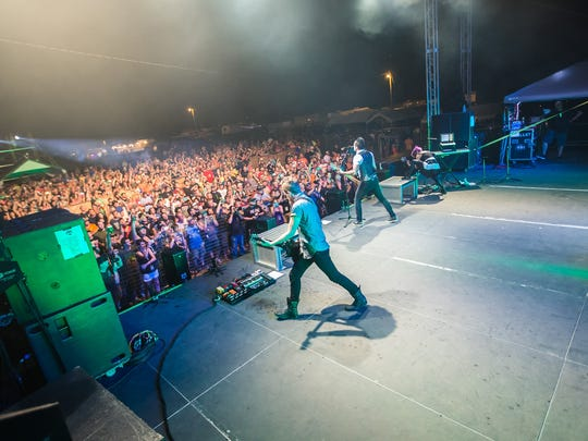 Skillet entertains a full crowd at the 2015 Halfway