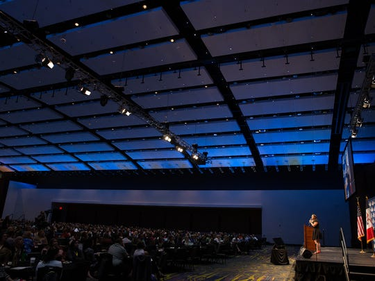 """More than 1,200 people attended the Des Moines Public Schools conference Monday, the first conference it has opened to other professionals. Erin Gruwell, a teacher and author who inspired the movie """"Freedom Writers,"""" spoke."""