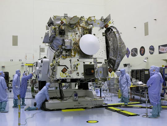 At Kennedy Space Center in June, technicians and engineers