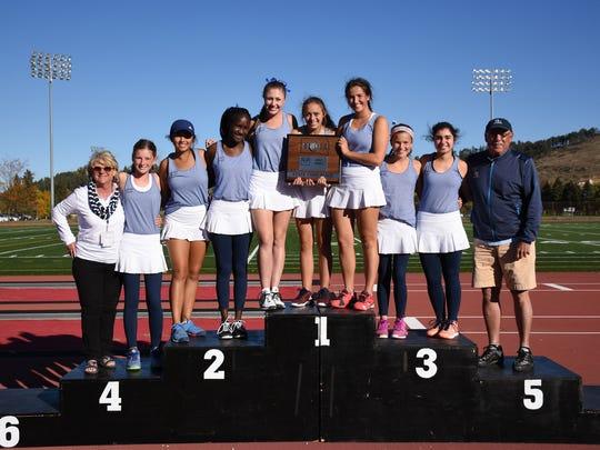 2016 O'Gorman girls tennis team.