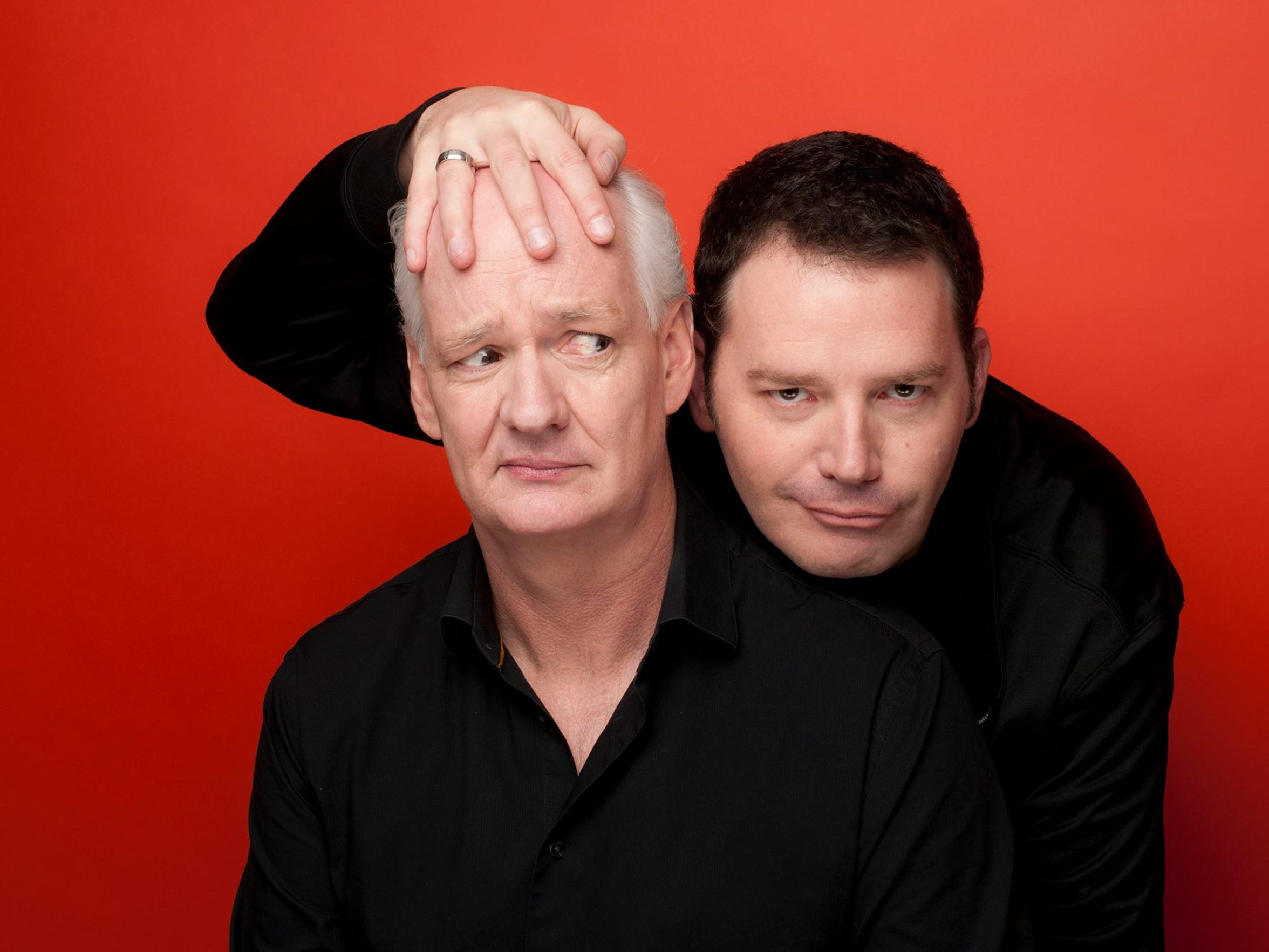 "Colin Mochrie and Brad Sherwood of ""Whose Line is it"