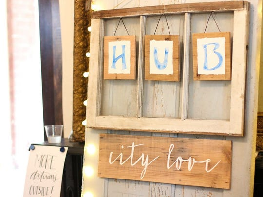 Trista Havner started Hub City Love   as a hobby. While her children were napping, she would paint designs on old wood or tin or whatever she could find, and then sell it.
