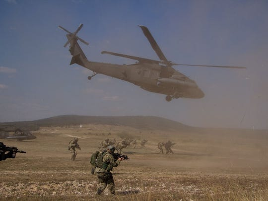 The 3-501st provides Black Hawk support for an air assault conducted by U.S. Army Special Forces and their NATO counterparts during an exercise in Hungary.