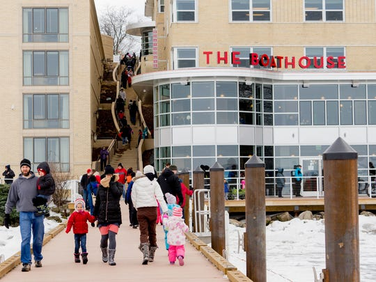 The Frozen Assets Festival is held at The Edgewater hotel along Lake Mendota in Madison.