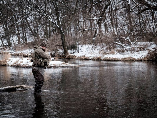 Fly fishing in River Falls
