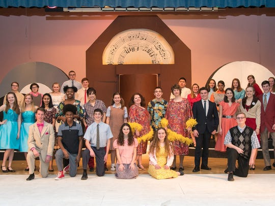 """The cast of """"Hairspray."""" Lansing High's 44th musical."""