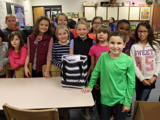 After hearing about the initiative, students from Fairview Elementary in Plymouth also contributed by offering art supplies for Mason Deppiesse's totes.