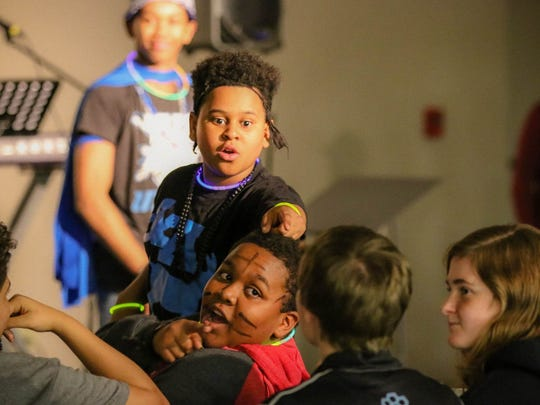 Several of the kids look to nominate a friend to play one of the games.