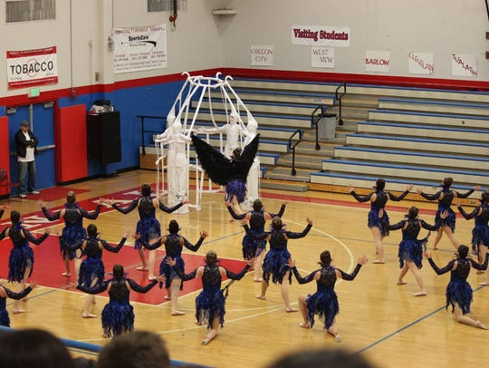 The Stayton Highlights Dance Team performs their program