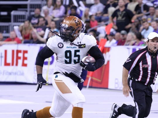 Joshua Gordon of the Arizona Rattlers runs in for a