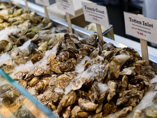 """The Lobster Place touts """"the largest selection of seafood on the East Coast"""" with fish, shellfish, lobster, crab, caviar and oysters available."""