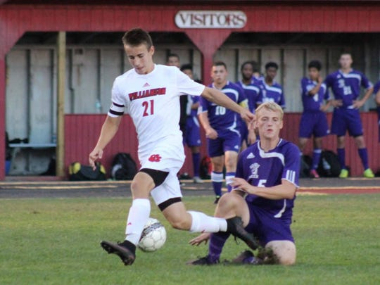 Justin Eaton had 21 goals and nine assists last fall as a sophomore forward for Williamson. He was named fifth-team all-state.