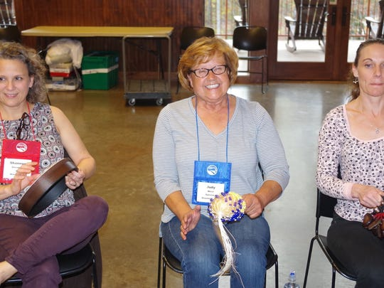 Judy West (center) at last year's inaugural Stroke Camp at Pleasant Ridge County Park.