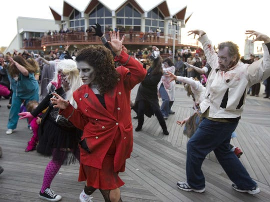 "The ""Thriller"" dance team, pictured in 2010, will be back at the New Jersey Zombie Walk on Saturday."