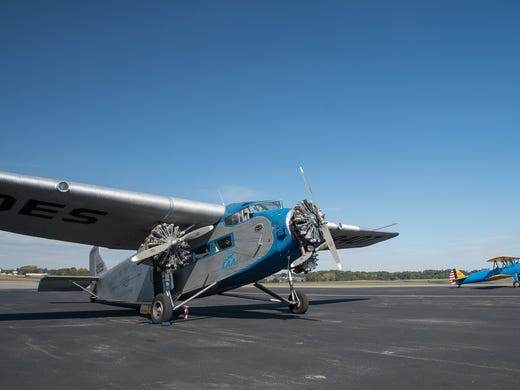 This 1929 Ford Tri-Motor is on display at the Clarksville