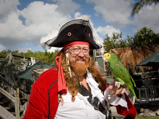 Children's activities at Palm Island Resort are led by Redbeard, a colorful pirate fellow beloved by now several generations of youngsters.