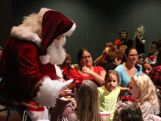 """""""Breakfast with Santa"""" takes place at 9 a.m.Nov. 18"""