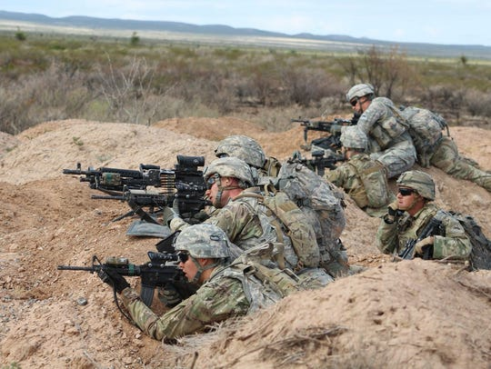 Soldiers with Cobra Company, 3-41 Infantry participate