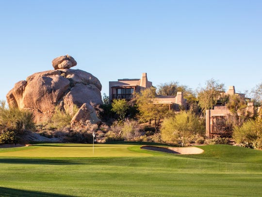 Two 18-hole courses wind through the Boulders resort,