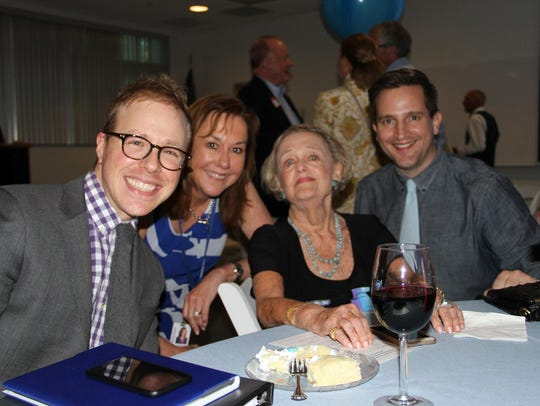 Doris Reynolds at a 90th birthday party thrown in her