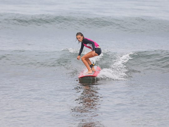 Maeva Conroy in action at the Aliya Wahine Cup 2017 in Baler, Philippines.