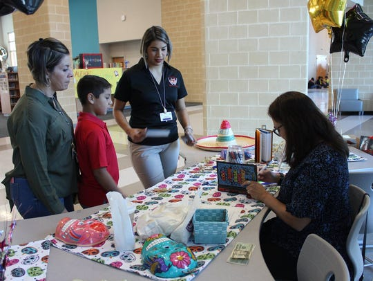 Adkins Middle School hosted the author Diana Lopez,