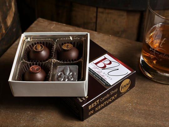 Bourbon truffles filled with a selection of more than