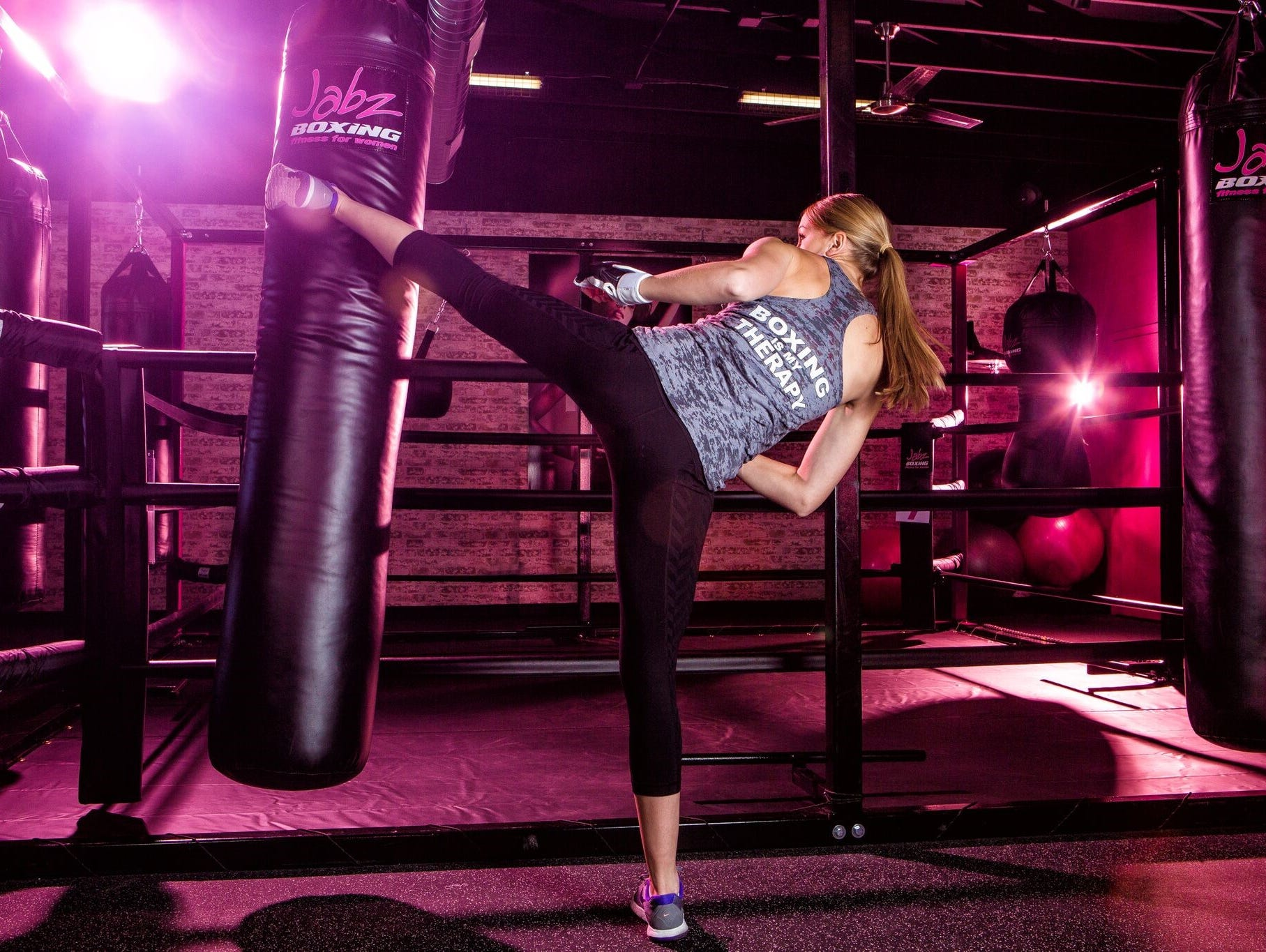 Come check out the hottest fitness studio in town, Jabz Boxing, a 45-min circuit designed specifically for women.