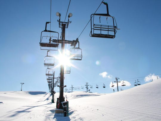 The ski lift at Mt. Brighton should be busy for Saturday's