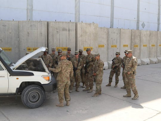 Soldiers with the Force Protection Platoon train on